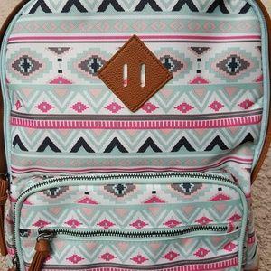 Backpack Canvas Aqua Pink No Boundaries